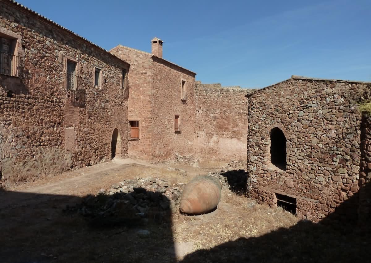 En el interior del Castillo