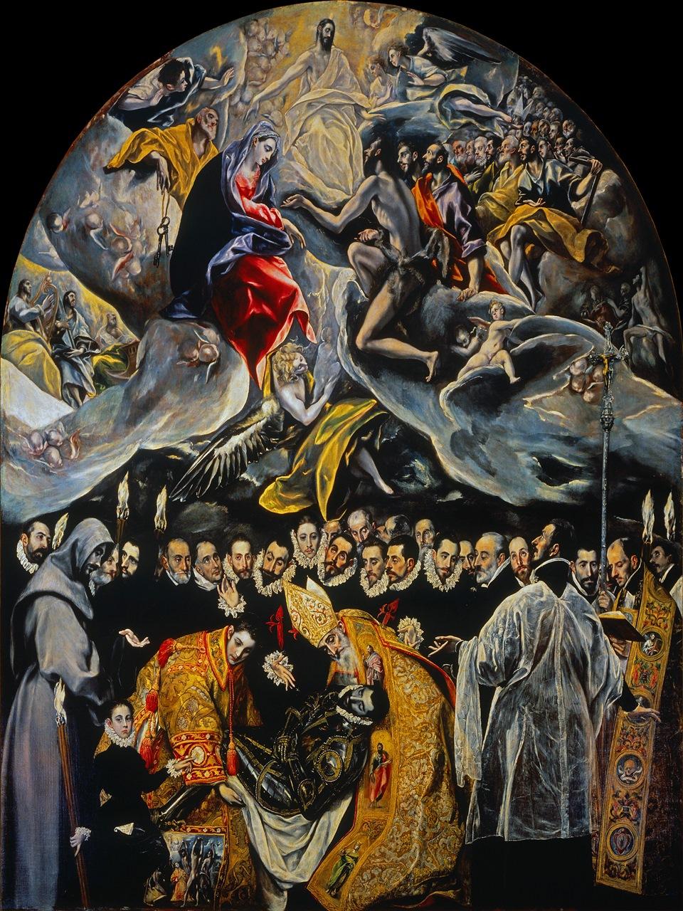 El entierro del señor de Orgaz. Iglesia de Santo Tomé, Toledo