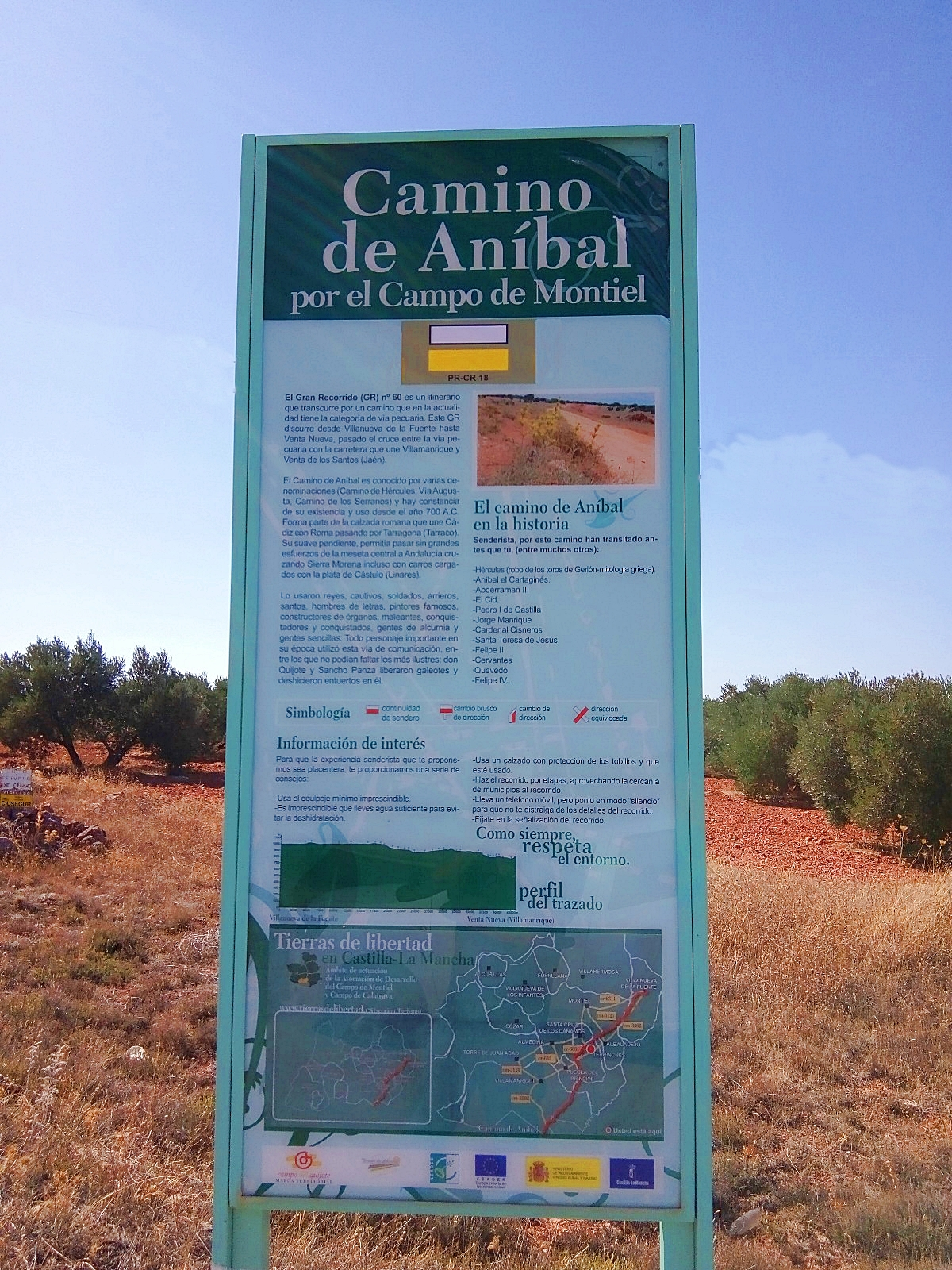 camino Aníbal Campo de Montiel ecoturismo sabersabor senderismo interpretativo