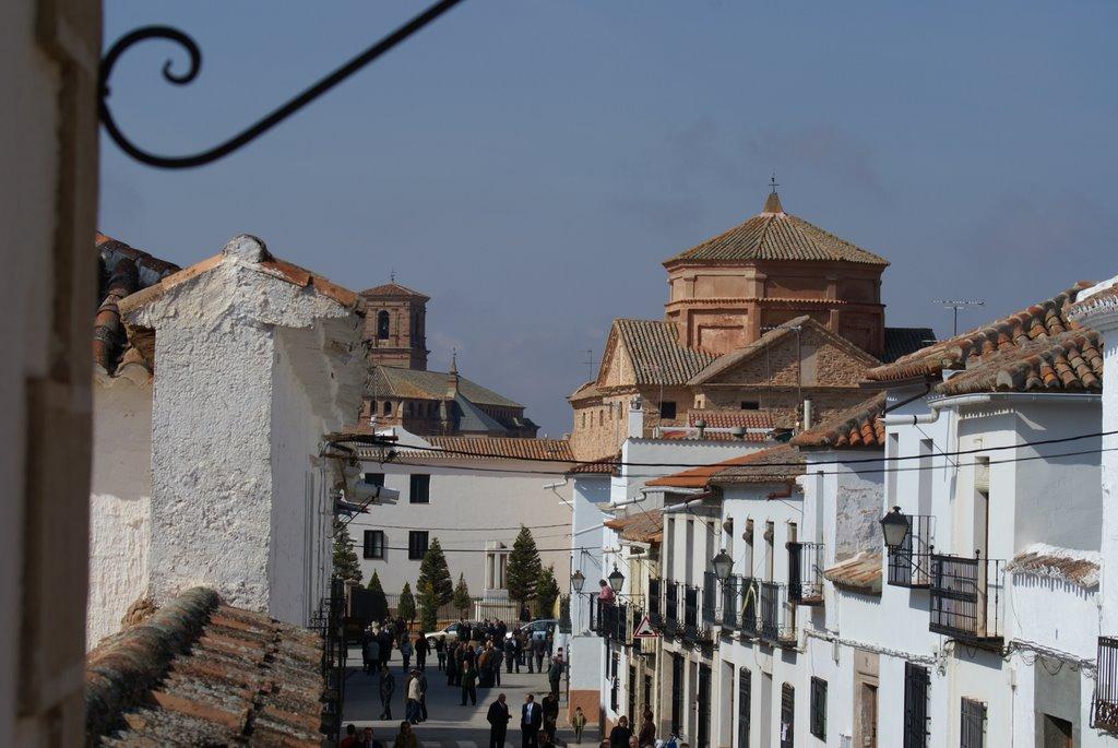 Calle de casas encaladas en Villanueva de los Infantes. Autor, Victor Chaparro