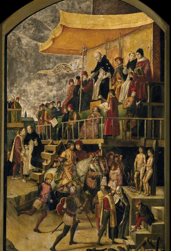 Auto de Fe. Obra de Pedro Berruguete. 1495