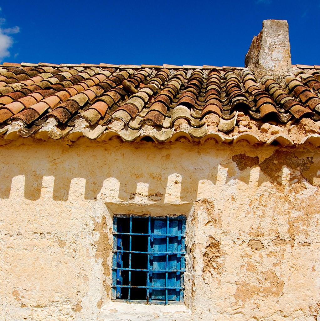 Detalle de casa manchega. Autor, Víctor Martín