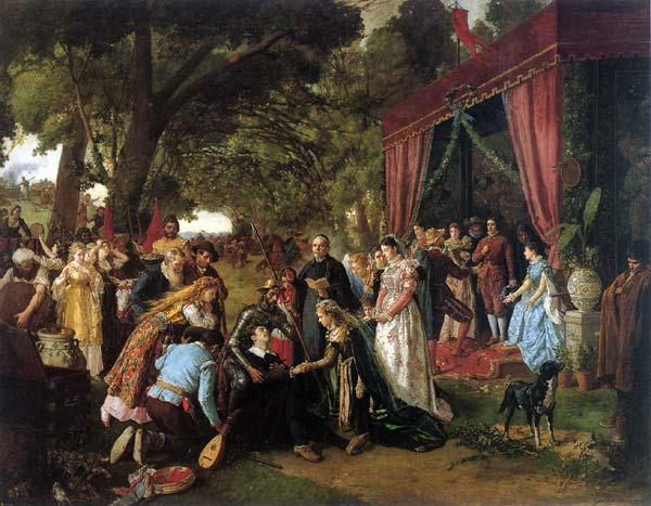 Bodas de Camacho. Casamiento de Basilio y Quiteria. Manuel García, Hispaleto. Óleo sobre lienzo (1836-1898)