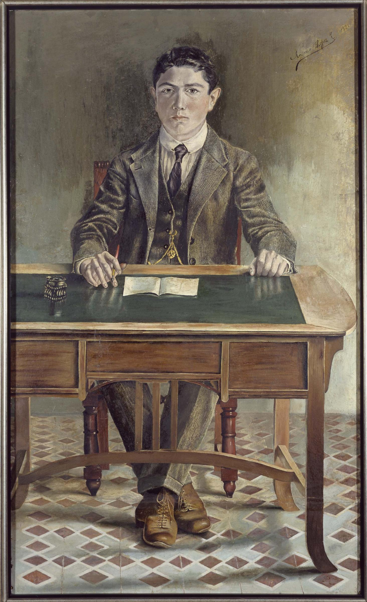 Autorretrato. Óleo sobre cartón. 1921. Museo Reina Sofía