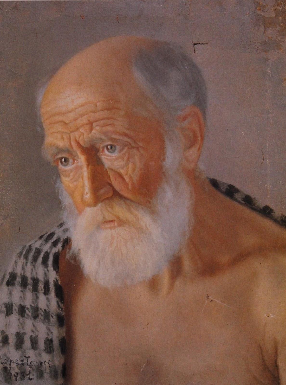 Retrato de anciano. Óleo sobre lienzo. 1931. Obra de Antonio López Torres
