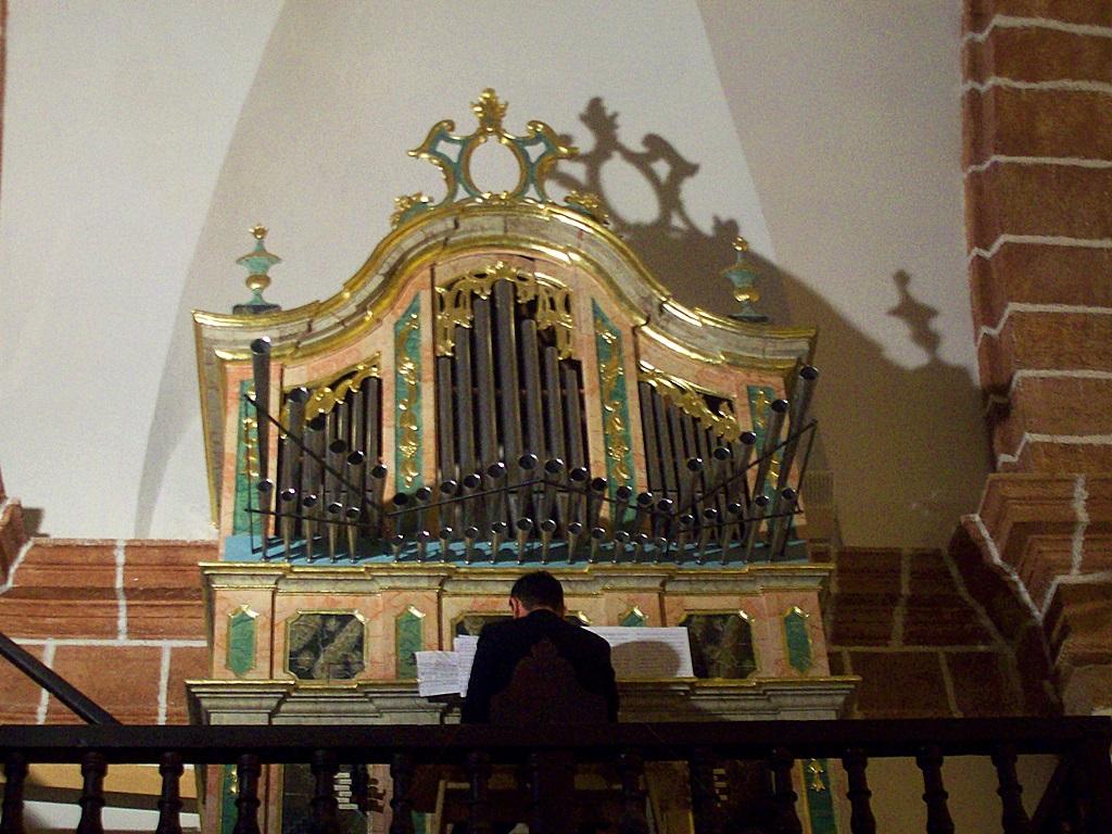 Concierto de órgano en Terrinches. Autor, Pedro Castellanos
