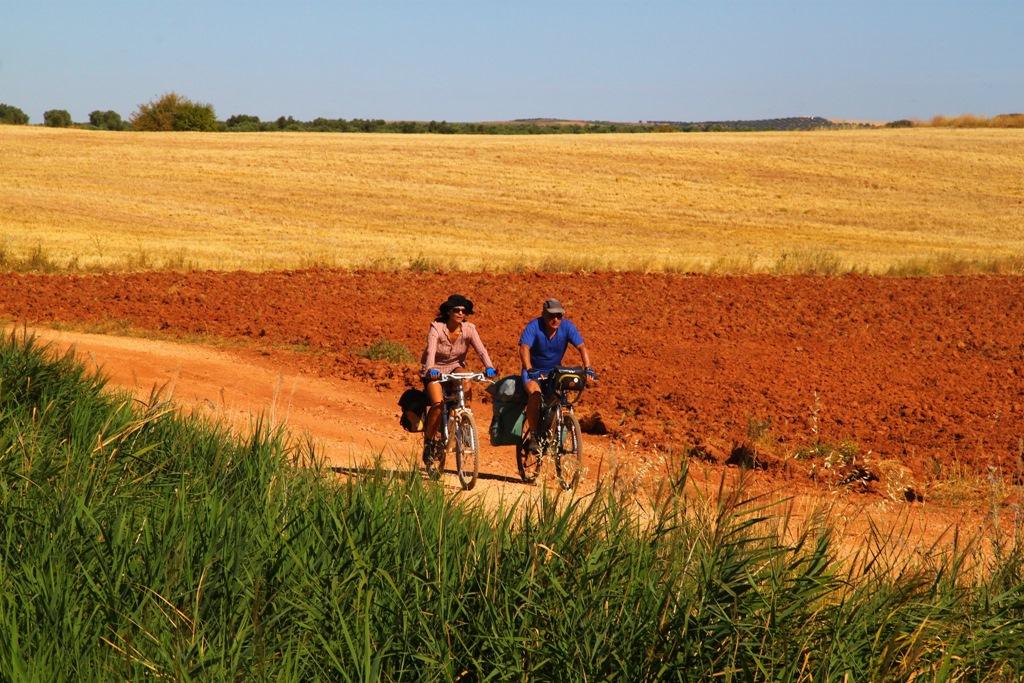 ruta del quijote en bicicleta por Campo de Montiel