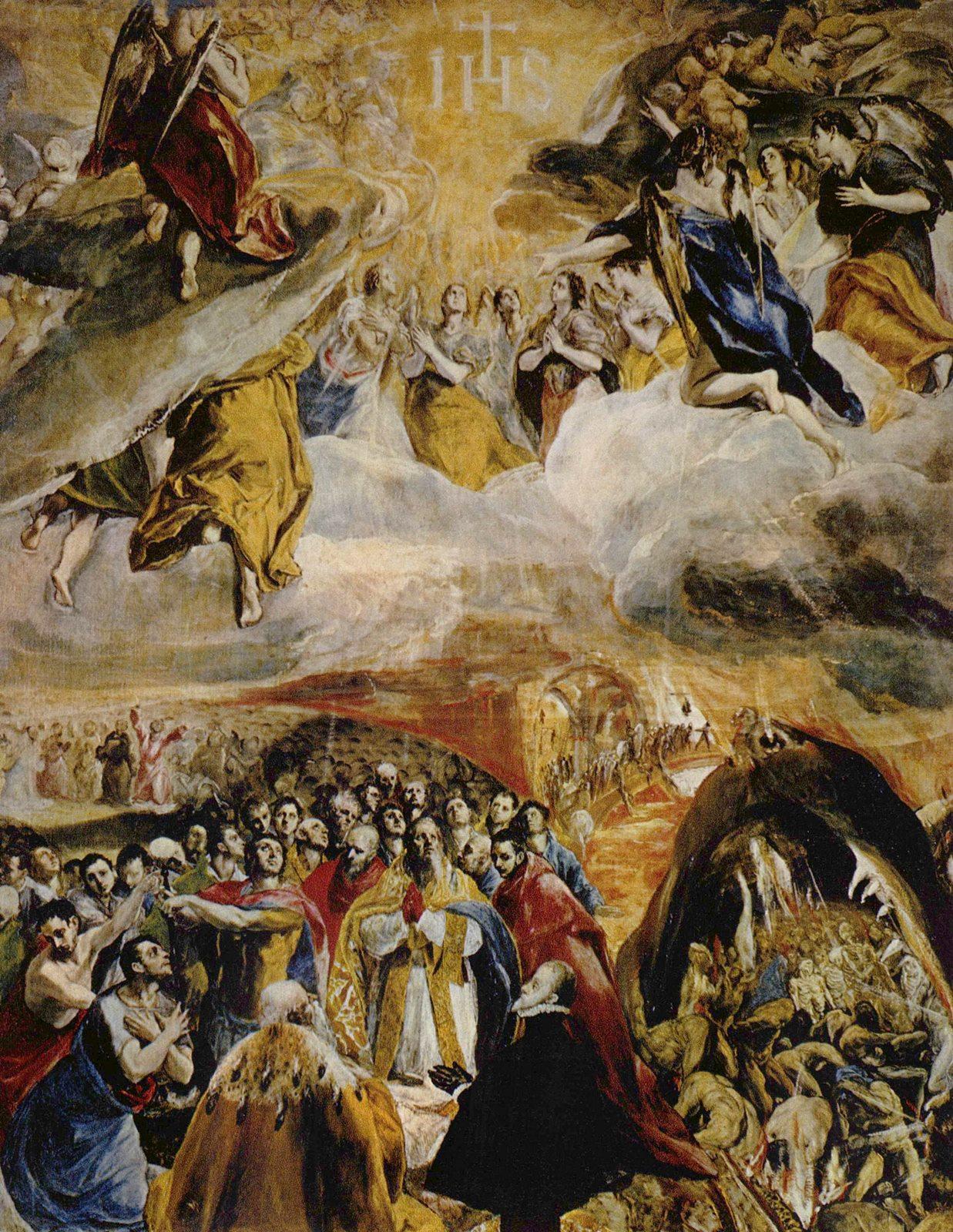 El sueño de Felipe II o Alegoría de la Liga Santa o la Adoración del nombre de Jesús. Real Monasterio de San Lorenzo, El Escorial