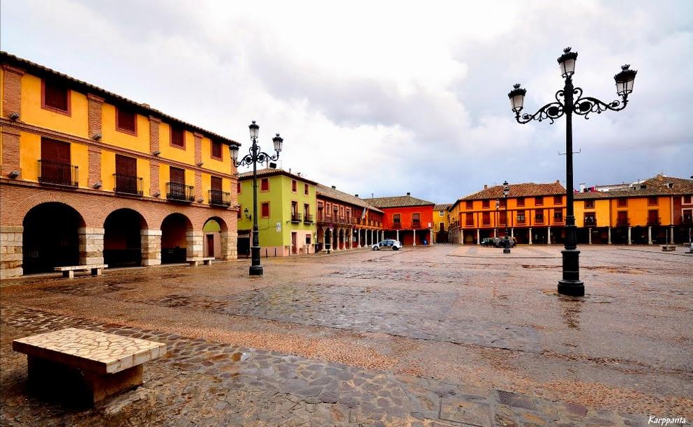 Plaza Mayor de La Solana. Autor, José Mª Sánchez