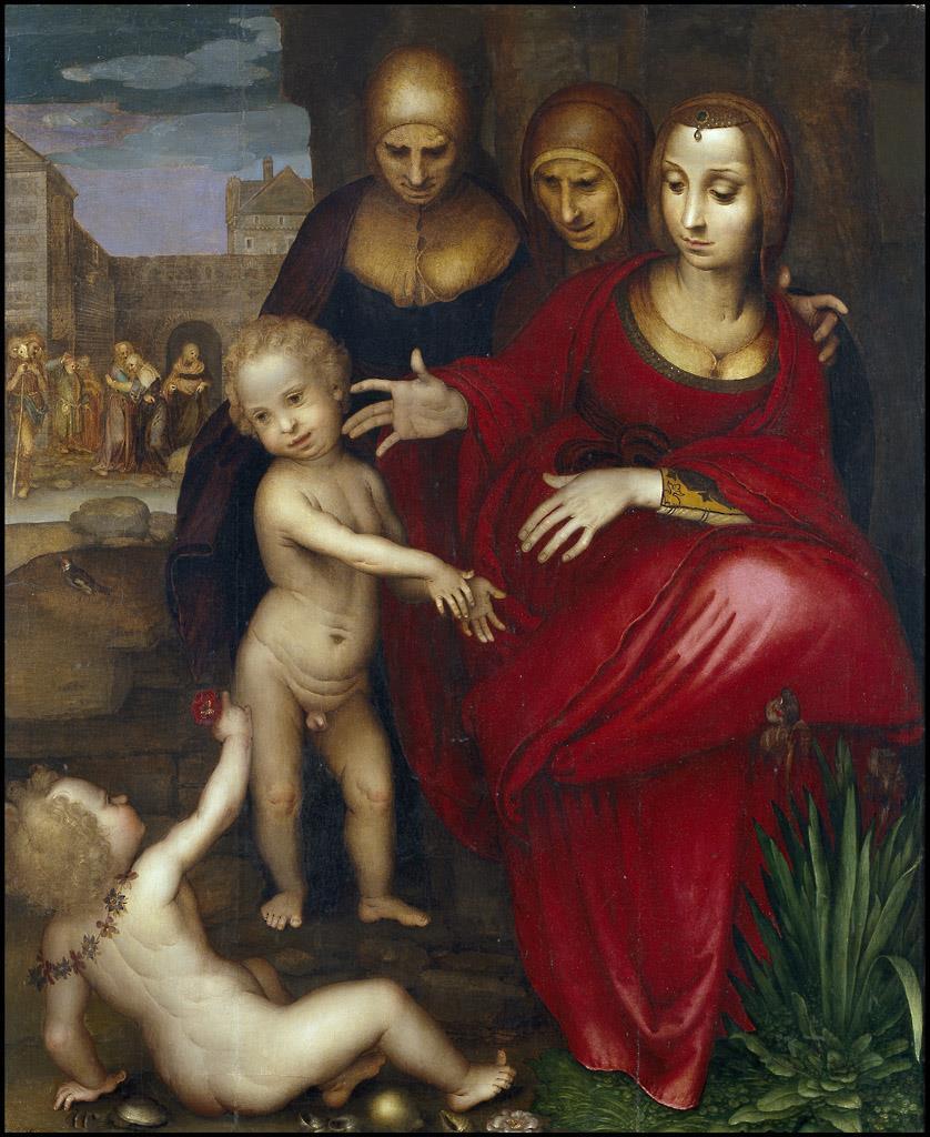 Santa Ana, la Virgen, Santa Isabel, San Juan y Jesús niño. Museo del Prado