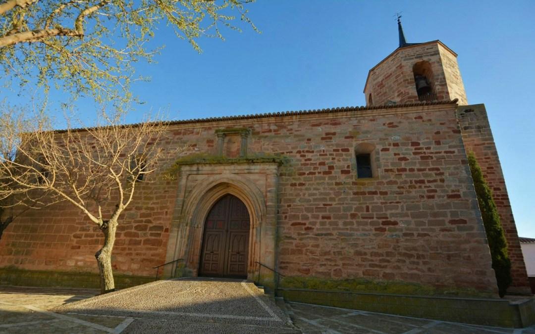 Fachada de la Iglesia de Santa María, Almedina. Autor, Juan Amores