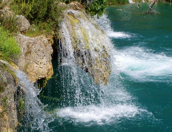 chorro lagunas Ruidera visita turismo naturaleza Argamasilla de Alba