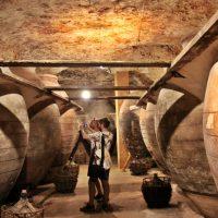 Interior de una antigua cueva bodega de Tomelloso